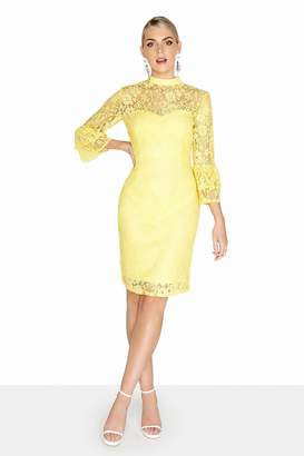 Paper Dolls Outlet Havre Lemon Fluted Dress