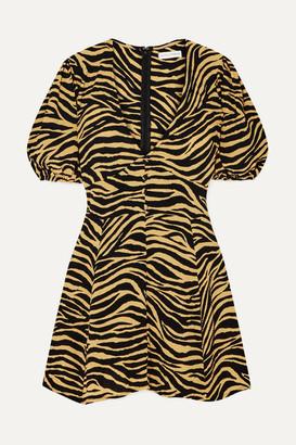 Faithfull The Brand Ilia Zebra-print Crepe Mini Dress - Zebra print
