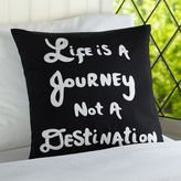 PBteen Life Is A Journey Pillow Organic Cover