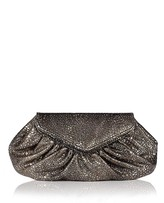 Diana Metallic Bubble Clutch