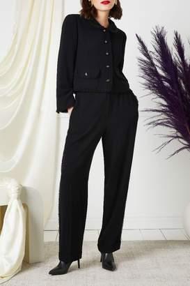Chanel Black Braid Trim Tuxedo Suit