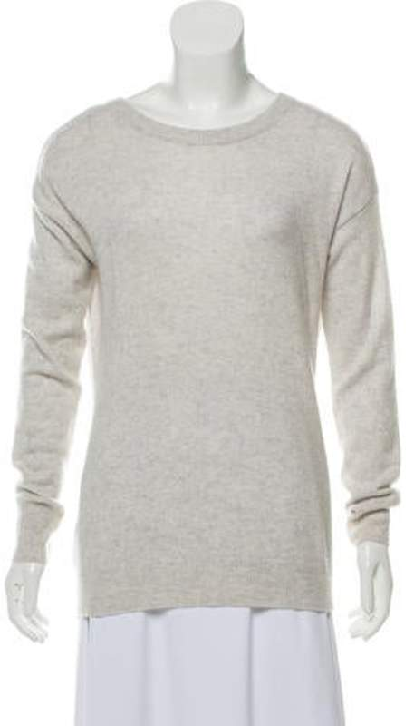 Autumn Cashmere Long Sleeve Cashmere Sweater grey Long Sleeve Cashmere Sweater