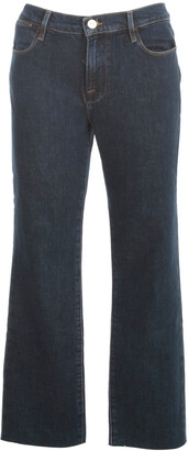 Frame Cropped Straight-Leg Jeans