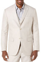 Perry Ellis Big and Tall Linen-Cotton Herringbone Jacket