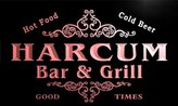 AdvPro Name u18840-r HARCUM Family Name Gift Bar & Grill Home Beer Neon Light Sign