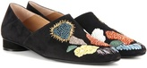 The Row Boelle embellished suede slippers