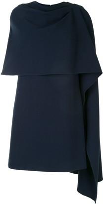 Oscar de la Renta Draped Cape-Style Dress