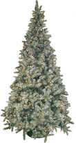 JCPenney General Foam Plastics 4.5' Pre-Lit Frosted Pine Christmas Tree