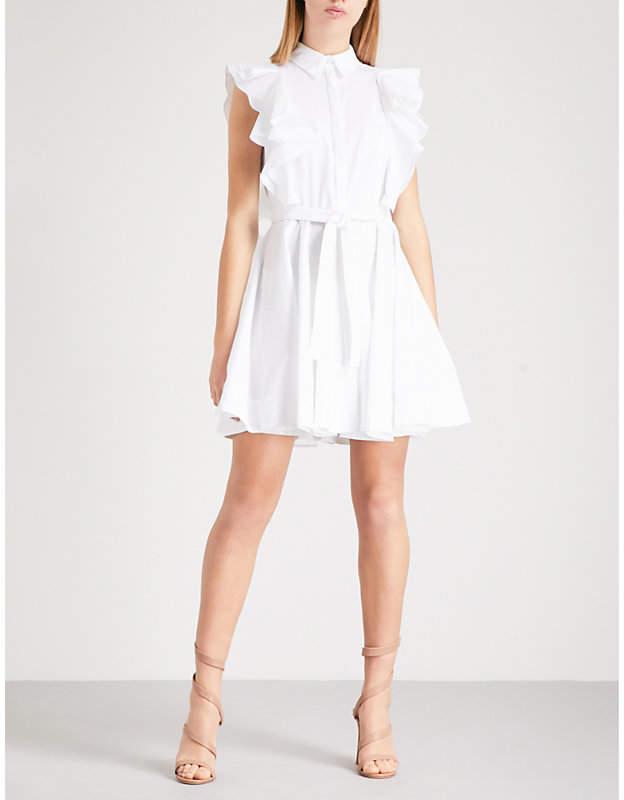 Antonio Berardi Mariella ruffle-detail stretch-cotton dress