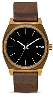 Nixon Time Teller Brown Leather Watch, 37mm
