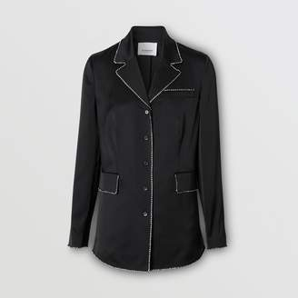 Burberry Embellished Silk Shirt
