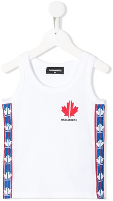 DSQUARED2 logo band tank top
