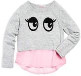 Design History Girls' Flocked Eyes Top - Sizes 2-6X