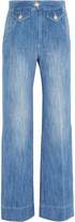 Etoile Isabel Marant Odessa cotton-chambray wide-leg pants