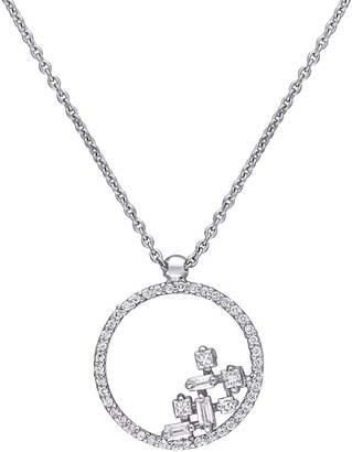 Affinity Diamond Jewelry Affinity 1/4 cttw Diamond Circle Pendant with Chain, 14K
