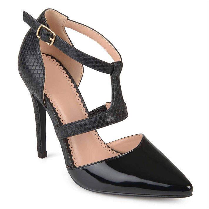Journee Collection Womens Brigid Pumps Buckle Pointed Toe Stiletto Heel