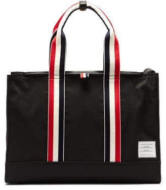 Thom Browne Tricolour Handle Tote Bag - Mens - Black