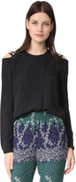 Yigal Azrouel Lace Shoulder Blouse