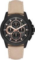 Michael Kors Men's Chronograph Ryker Light Brown Leather Strap Watch 43mm MK8520