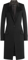 Barbara Bui Wool Coat with Leather Collar