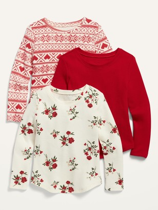 Old Navy Thermal-Knit Long-Sleeve Top 3-Pack for Toddler Girls
