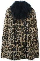 Sonia Rykiel leopard print fur coat