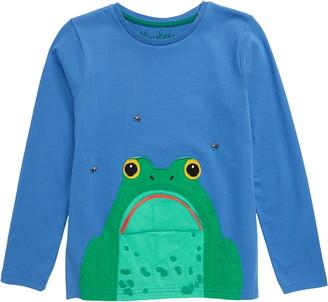 Boden Mini Frog Applique Long Sleeve T-Shirt