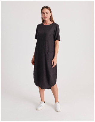 Regatta Short Sleeve Dress With Asymetrical Seam in Pewter