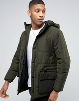 Esprit Padded Jacket with Military Pocket Detail