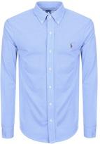 Ralph Lauren Oxford Knit Shirt Blue
