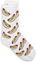 White Hot Dog Tube Socks