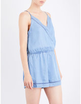 Seafolly Ladder-detail chambray playsuit