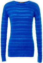 Cashmere and Silk Blend Ribbed Sweater