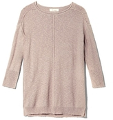 Two by Vince Camuto Seamed Slub-knit Pullover