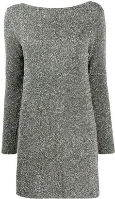 A.P.C. Glitter-Effect Long-Sleeve Mini Dress