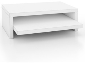 Way Basics Deluxe 2-Shelf Monitor Stand
