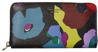 Kate Spade Spencer Floral Collage Zip Around Continental Wallet