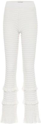Acne Studios Textured high-rise slim pants