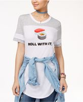 Freeze 24-7 7 Freeze Juniors' Roll With It Graphic T-Shirt