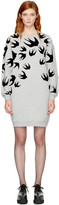 McQ by Alexander McQueen Grey Swallows Sweatshirt Dress