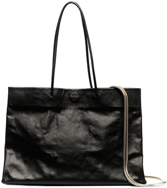 Medea Dieci Busted calf leather bag
