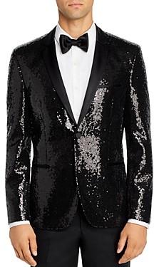HUGO Arti Sequined Extra Slim Fit Tuxedo Jacket