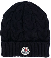 Moncler cable knit hat - kids - Virgin Wool - 50 cm