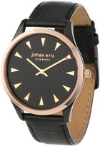 Johan Eric Men's JE9000-10-007 Helsingor and Rose Gold Ion-Plated Leather Watch