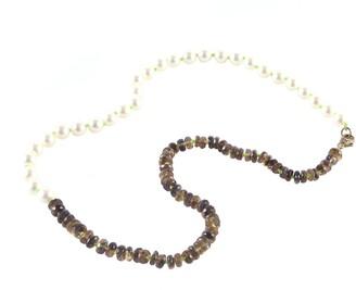 Sylva & Cie Neon Green Akoya Pearl Threaded Necklace