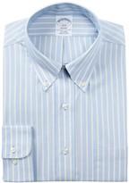 Brooks Stripe Trim Fit Dress Shirt