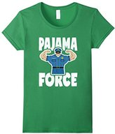 Pajama Force Retro Muscle Police Officer Bed Time PJ T-Shirt