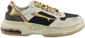 Premiata Drake 018 Sneakers White And Gold