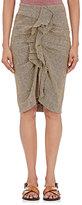 Etoile Isabel Marant Women's Jorja Linen Midi Skirt-BEIGE