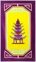 Jonathan Adler Luxembourg Pagoda Beach Towel - Yellow/Purple
